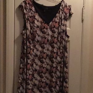 Connected Apparel black pink dress